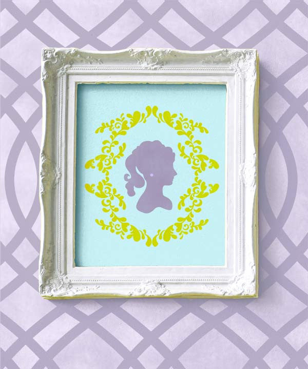 Cameo Wall Art Stencils for Vintage and Victorian Home Decor - Royal Design Studio