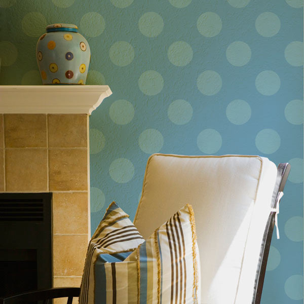 graphic modern wall polka dot stencils polka party royal design