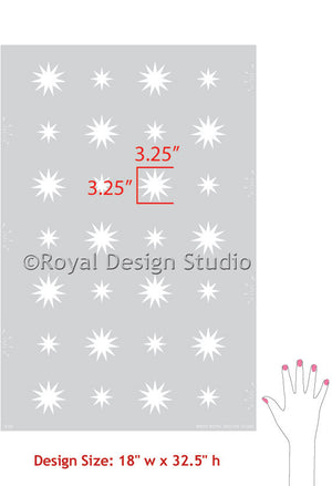 Shining bright stars for stenciled crafts and DIY Christmas Decor - Royal Design Studio