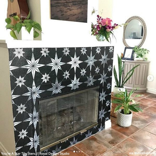 Star Tile Stencils For Painting Floors Or Diy Kitchen