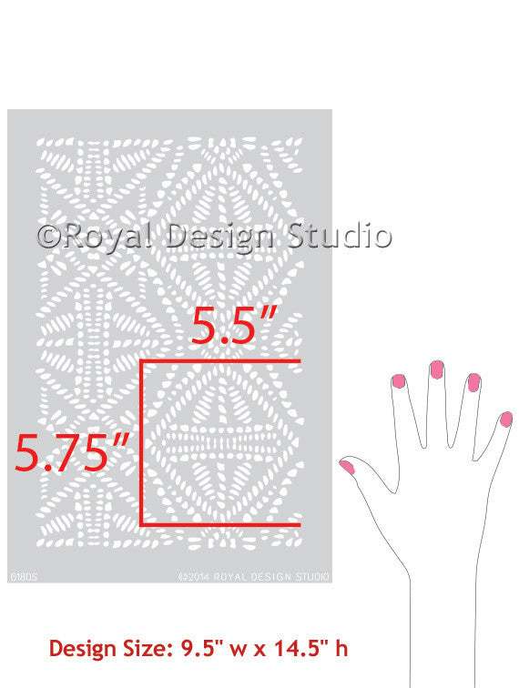 African Design and Tribal Batik Pattern - Royal Design Studio Furniture and Craft Stencils