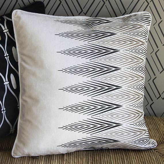 African Plumes Tribal Pattern Stencil for Furniture and Craft Projects - Royal Design Studio Stencils