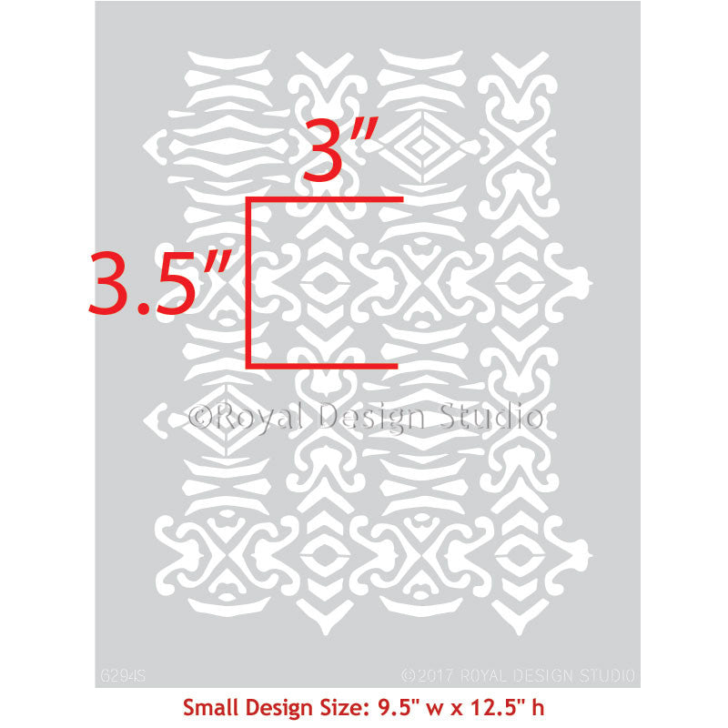 Adisa Tribal Furniture Stencil