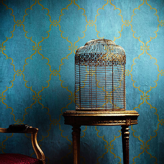 indian design wallpaper patterns with diy wall stencils