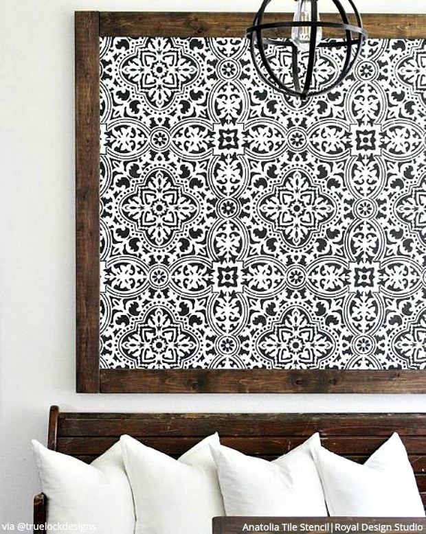 Large DIY Tile Stencils for Painting Walls and Floors | Royal Design ...