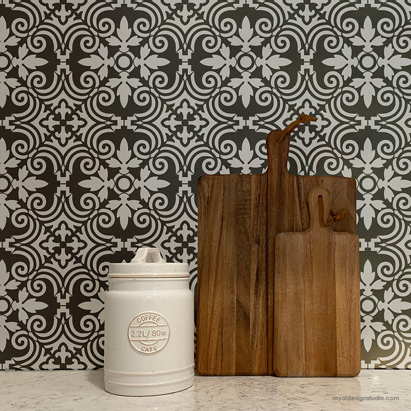 NEW! Augusta Tile Allover Stencil