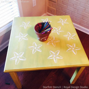 Starfish Wall Art Stencil