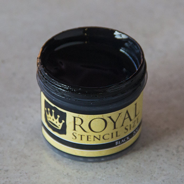 Black stencil gilding size by Royal Design Studio Stencils 2oz