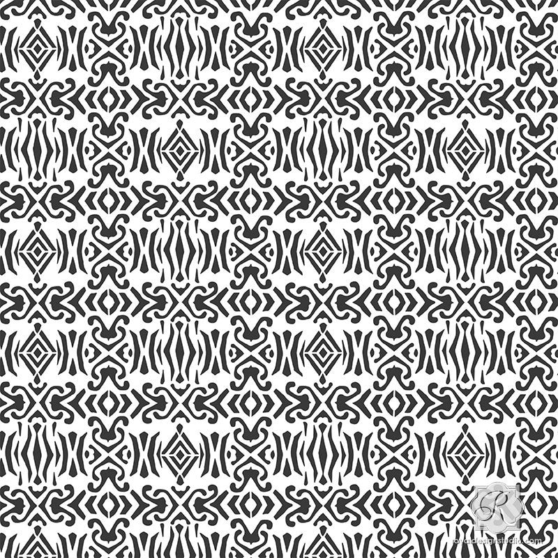 Tribal Patterns for Stenciling Small Decor - Royal Design Studio Craft Stencils