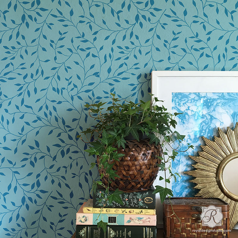 Wisteria Vines Amp Leaves Wall Stencils For Painting Diy