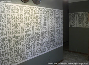 Carved Arch Panel Classic Border Stencils