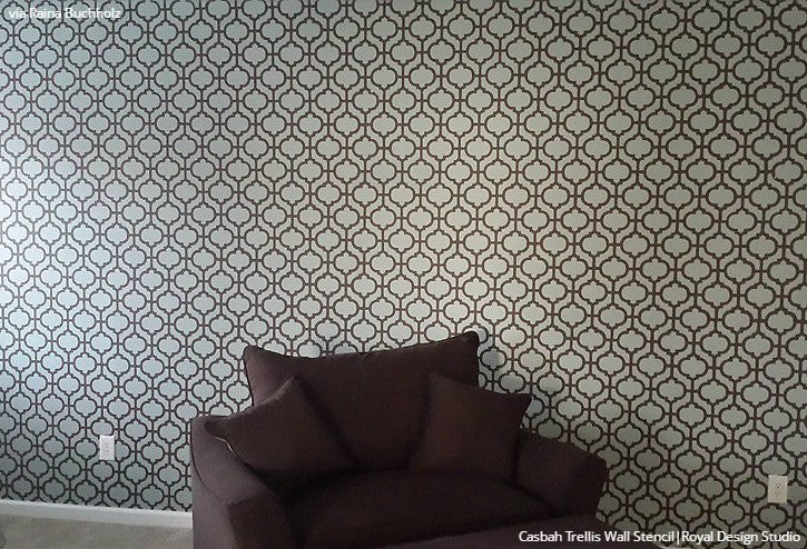 Large Wallpaper Patterns Painted And Stenciled