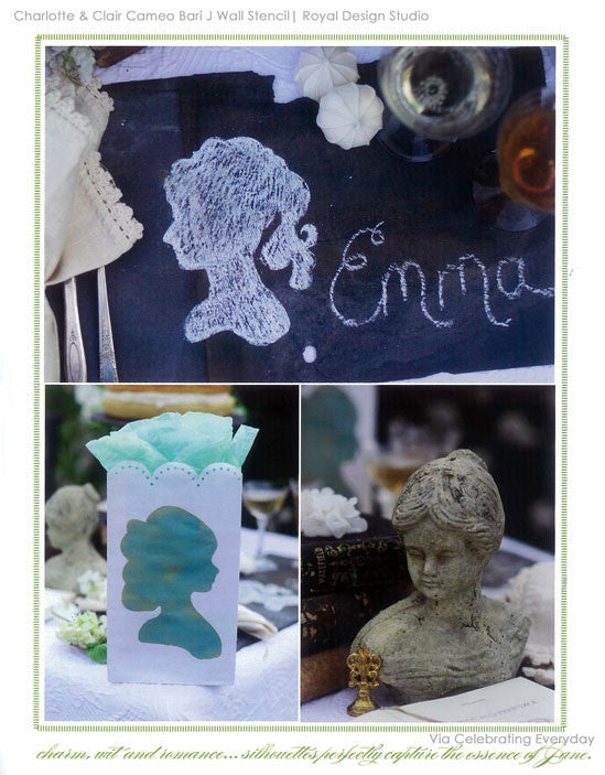 Silhouette Stencils for Victorian Decor and Elegant Table Setting Ideas - Royal Design Studio