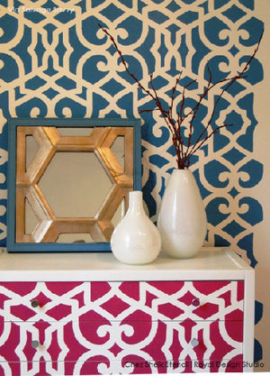 Colorful Home Decor - Stenciled Furniture and Wall Stencils from Royal Design Studio