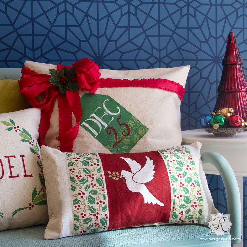 Holiday DIY Projects with Craft Stencils - Christmas Dove or Bird Stencil