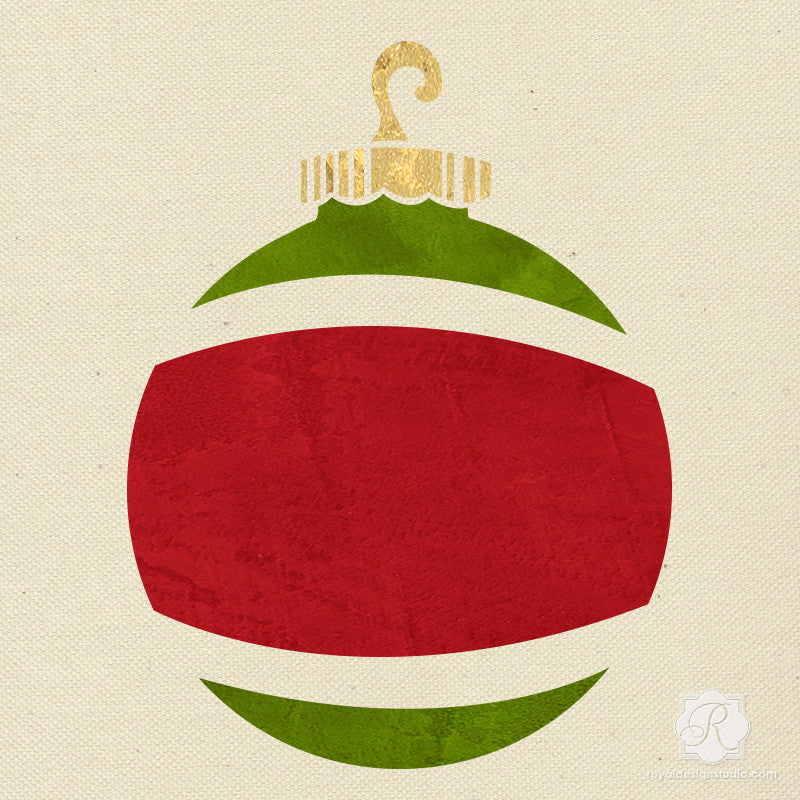 Ornament Christmas Stencil | Royal Design Studio Stencils