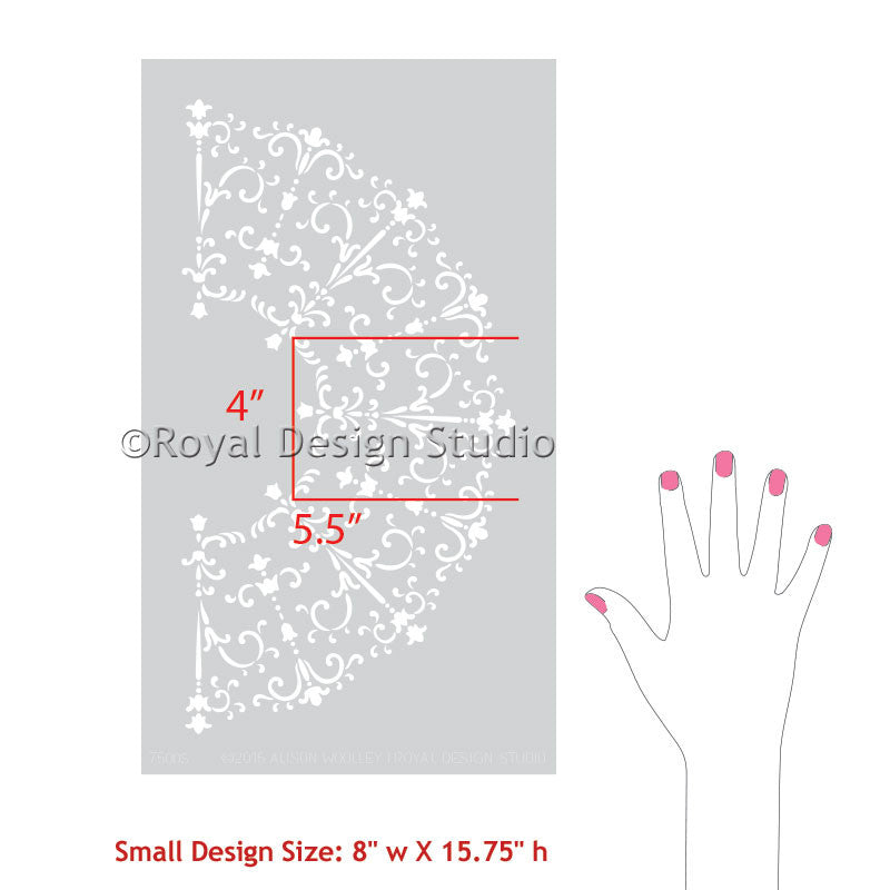 Medallion Stencils for Decorative Painting - DIY Classic Italian Design - Royal Design Studio