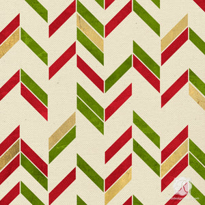 Herringbone candy cane stripes stencils for crafting DIY Christmas party decor