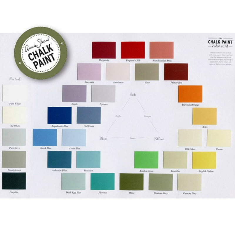 Annie Sloan Chalk Paint Color Card Royal Design Studio Stencils