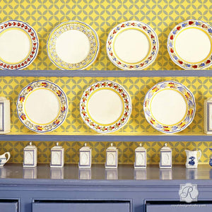 Easy DIY Decor Idea with Endless Moorish Circles Moroccan Craft Stencils - Royal Design Studio