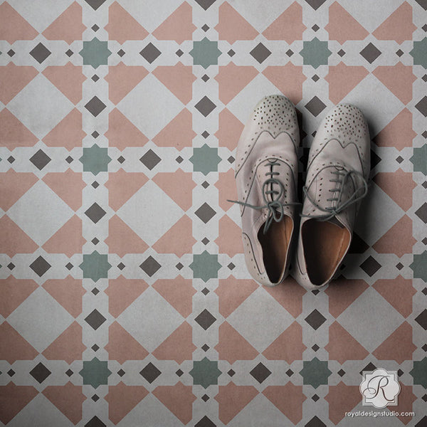 Tile Stencils For Walls Floors And Diy Kitchen Decor