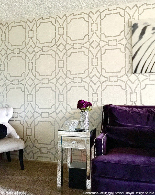 Contempo Trellis Wall Stencil Part 48