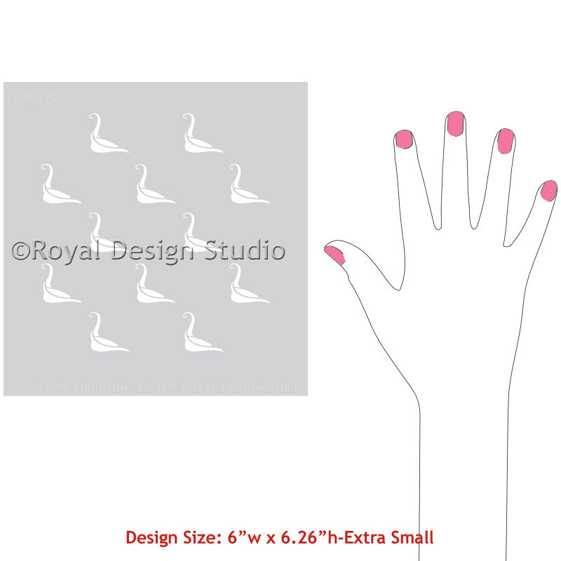 DIY Projects with Craft Stencils - Bird Stencil for Cute Gift Ideas, Handmade Gifts, and More! Royal Design Studio