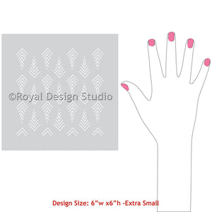 Arts and Crafts Stencils for Painting Furniture and DIY Projects - Tribal Arrow Print Pattern Stencils - Royal Design Studio
