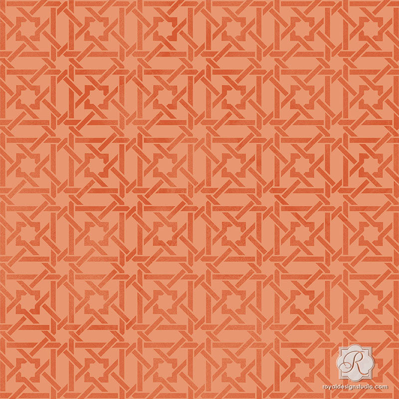 Geometric Moroccan Interior Decor - Craft Stencils for Painting - Royal Design Studio