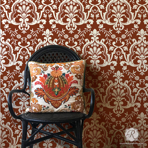 wallpaper wall designs. Custom Wallpaper Designs Painting Bohemian Turkish Wall Stencils  Royal Design Studio Designer for Trendy Home Decor