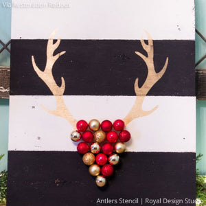 Christmas Reindeer Antlers - Craft Stencils for Holiday Decorations