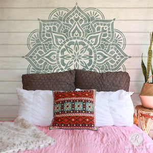 Reclaimed Upcycled Wood Decor - Painting Boho Chic Mandala Stencils DIY Project - Royal Design Studio Stencils-G