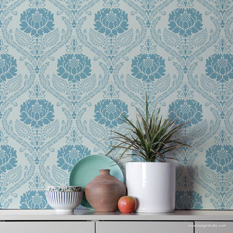 Windsor Damask Wall Stencil