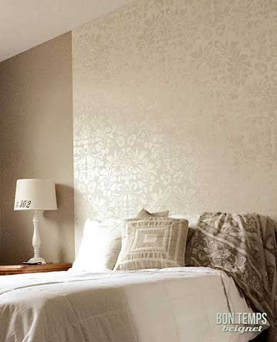 Wall Stencil design Fabric Damask Stencils