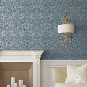 DIY Room Makeover using Elegant Wall Patterns - Isle of Palms Damask Wall Stencils - Royal Design Studio