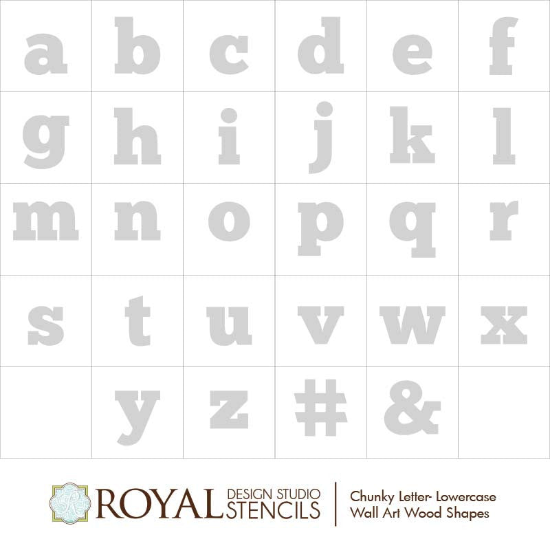 Alphabet Letters Wall Art Wood Shapes For Diy Decor