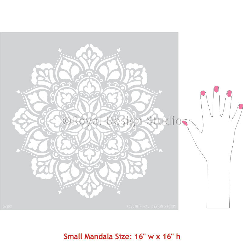 Cute Mandala Wall Art Projects for Girls Room or Teen Room - Royal Design Studio Stencils for DIY Painting