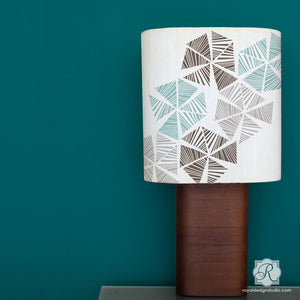 Decorate DIY Decor, Lampshades, Pillows and more with Modern Wall Art Stencils - Royal Design Studio
