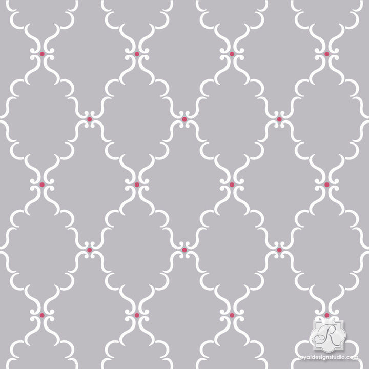Raj Trellis Indian Craft Stencil