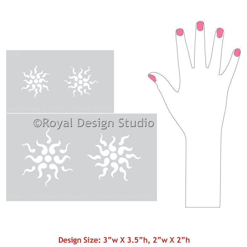 Painting Walls and Furniture with Stars Stencils & Italian Art - Royal Design Studio