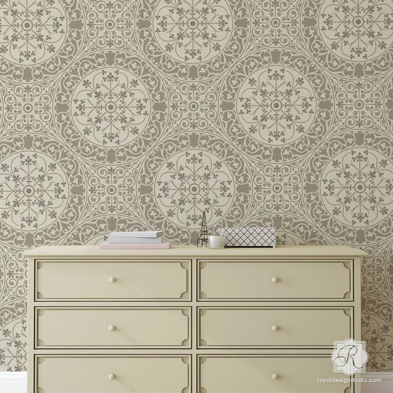 european damask wall stencils for floors diy tile