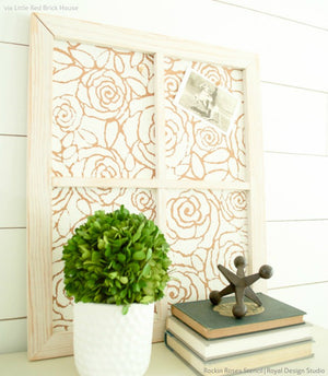 DIY Painted Picture Frame - Modern Cork Board Craft Project Stencils
