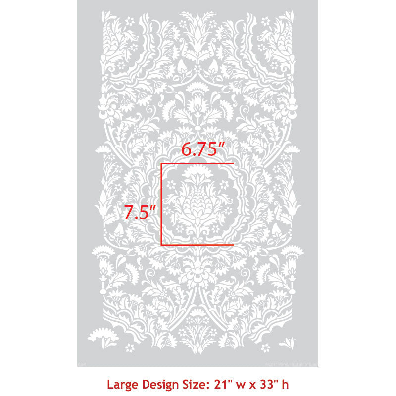 Laleh Persian Damask Wall Stencil
