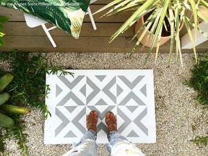 DIY Painted Cement Step Stones - Outdoor Decor - Royal Design Studio Stencils