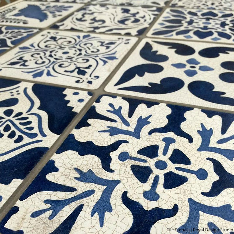 Mexican Talavera Tiles Wall Amp Furniture Stencils Royal