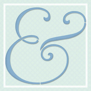 Ampersand Lettering Wall Art Stencil
