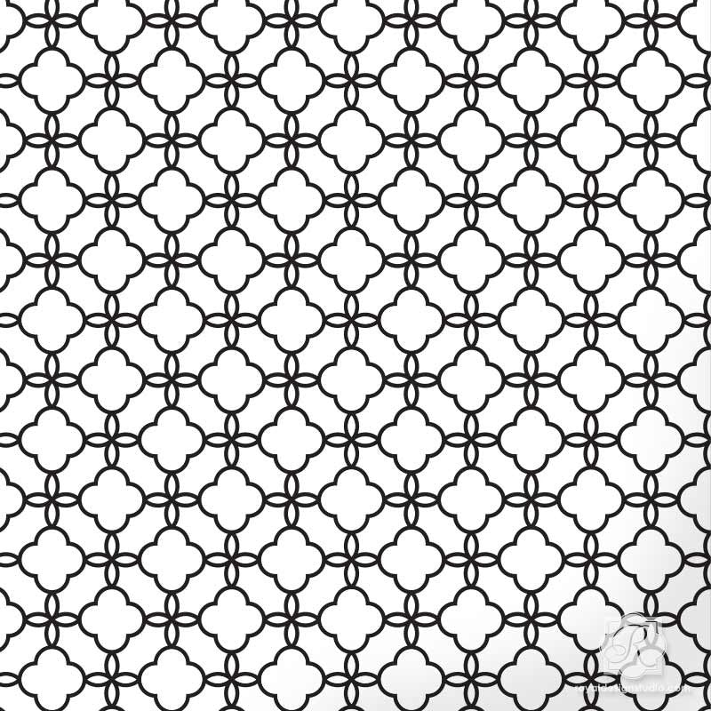 Decorate with Exotic Moroccan Pattern using Eastern Lattice Moroccan Craft Stencils - Royal Design Studio