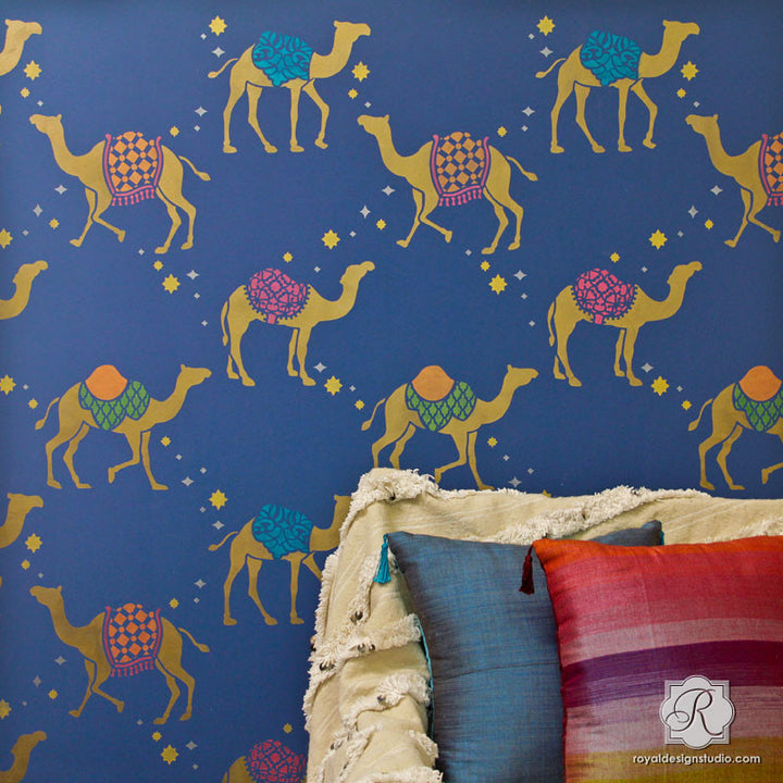 Camel Safari Wall Stencil