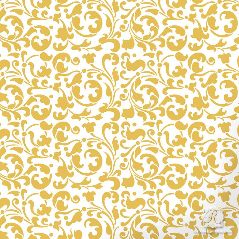 Sultan Swirl Craft Stencil Royal Design Studio Stencils
