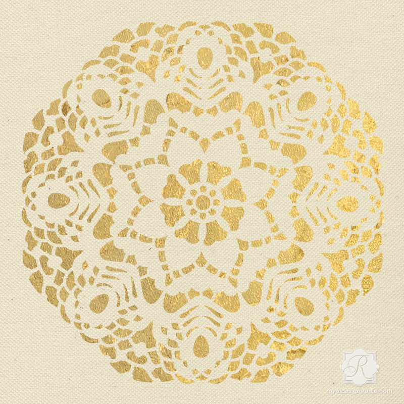 Lace Wall Art - Holiday Craft Stencils - DIY Christmas Home Decor ...